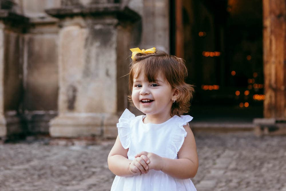 Bebé feliz en Antigua Guatemala