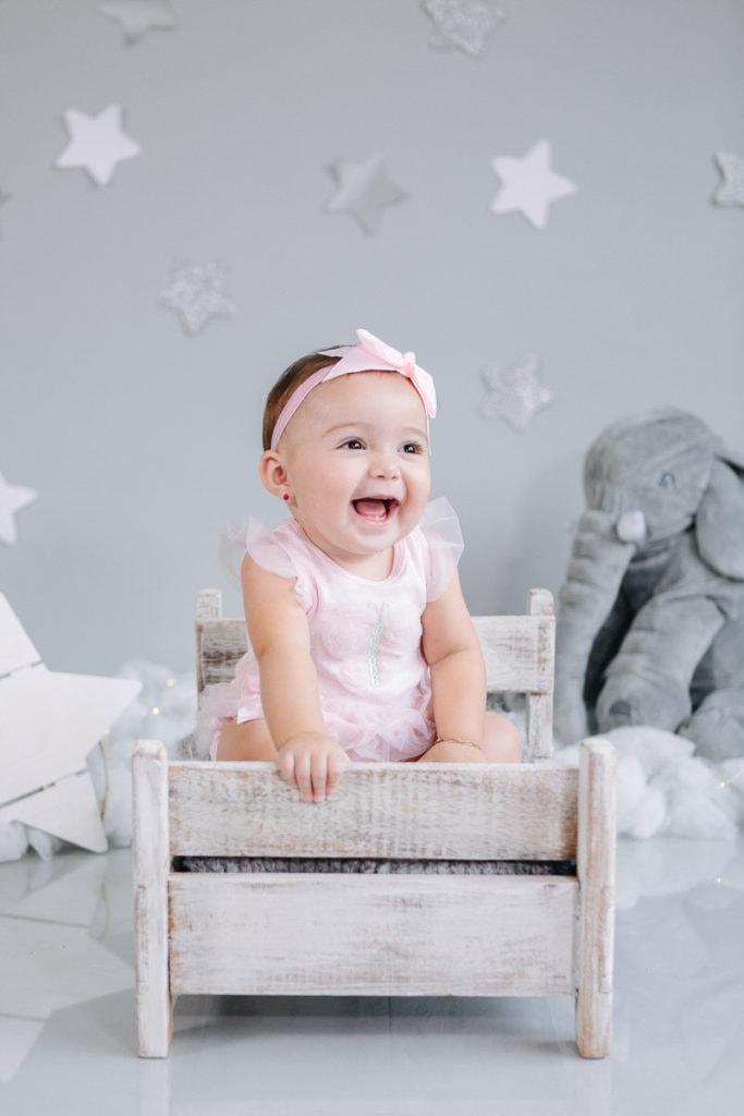 La felicidad de una bebé de 7 meses