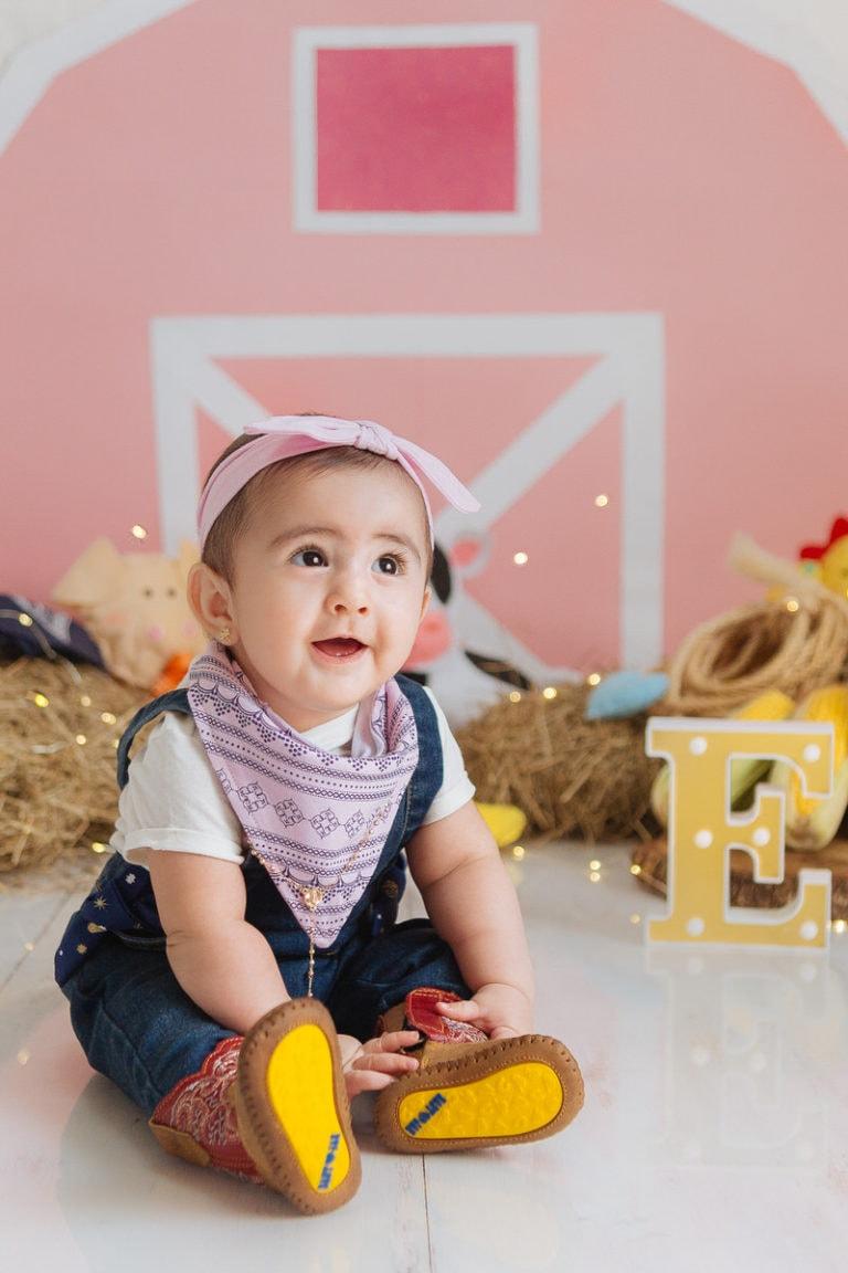 Sesión de bebés de 7 a 9 meses