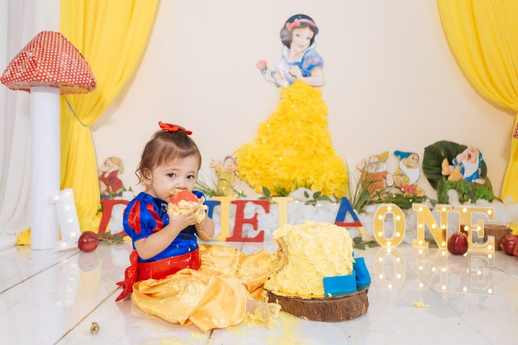 Cake Smash al estilo Blanca Nieves